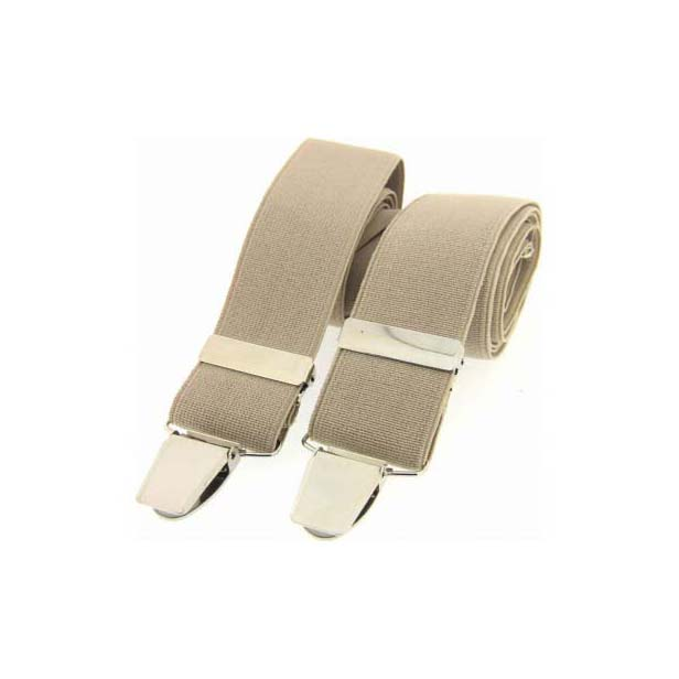 Camel Plain Elasticated Braces