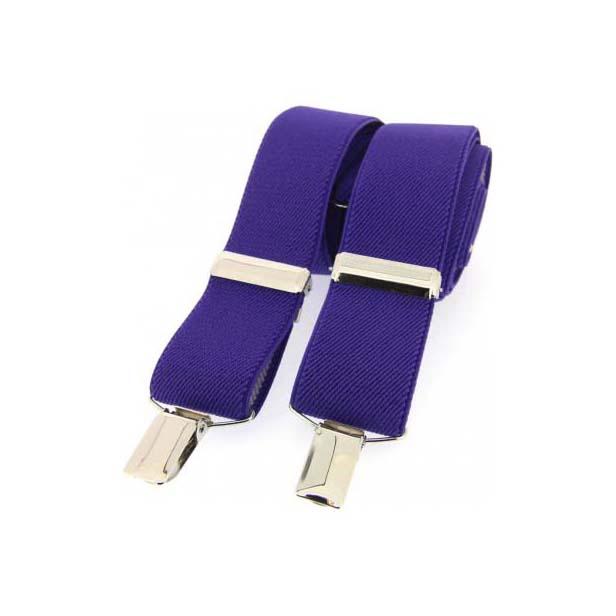 Purple Plain Elasticated Braces