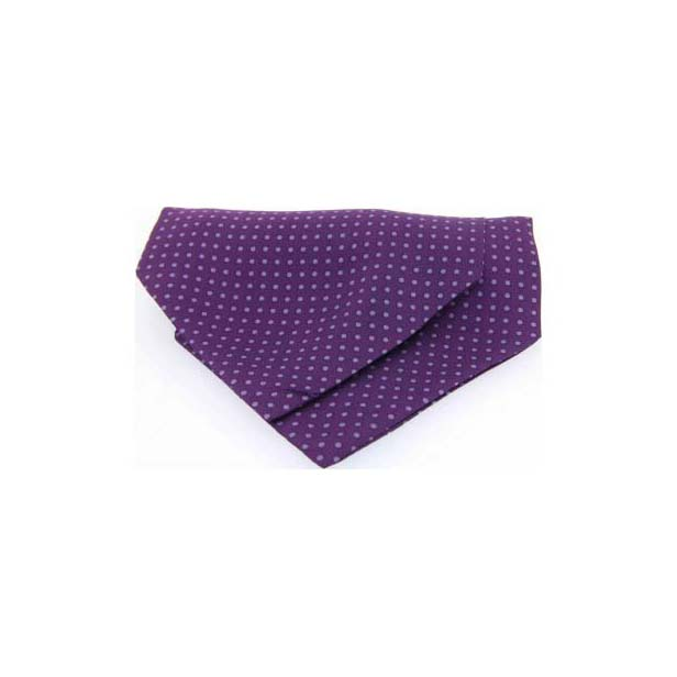 Lilac and Purple Pin Dot Silk Cravat