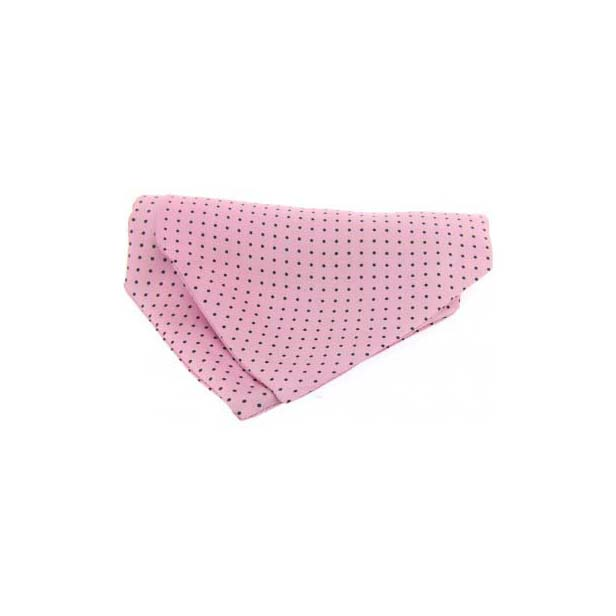 Navy and Pink Pin Dot Silk Cravat