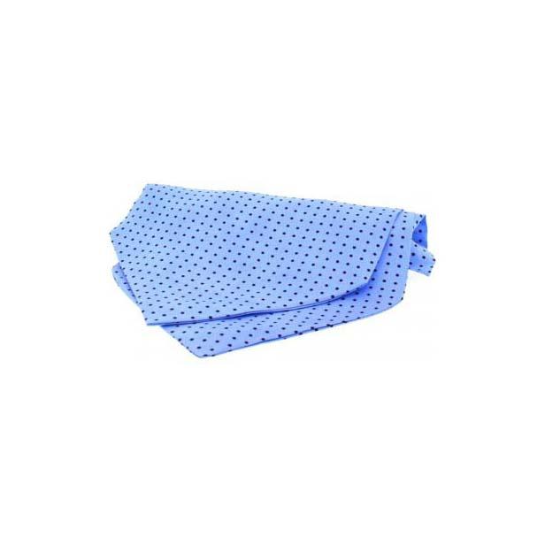 Sky Blue and Navy Pin Dot Silk Cravat