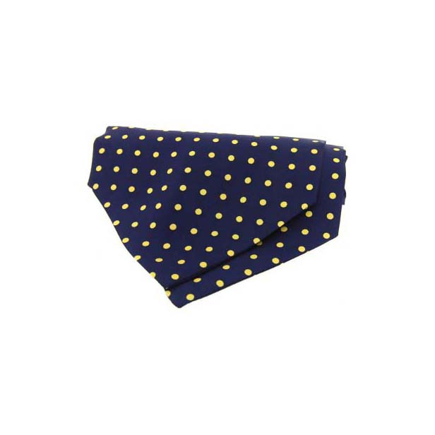 Blue and Cream Pin Dot Silk Cravat