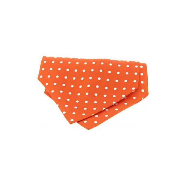 Orange Pin Dot Silk Cravat