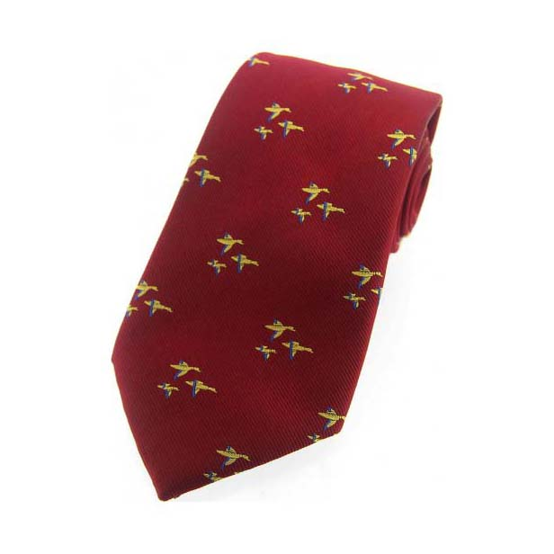 Flying Ducks Wine Country Silk Tie