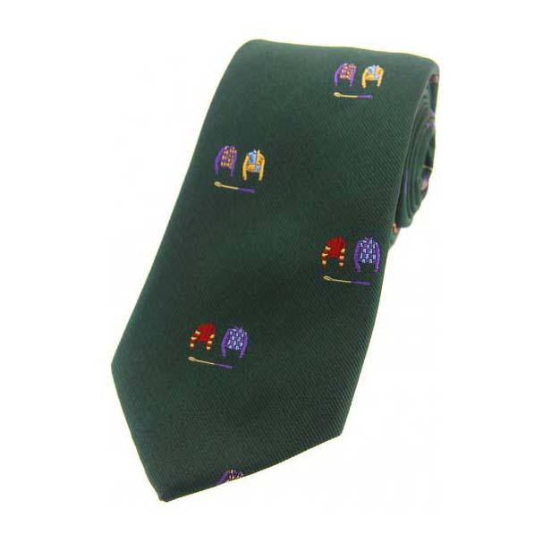Jockey Colours on Green Country Silk Tie