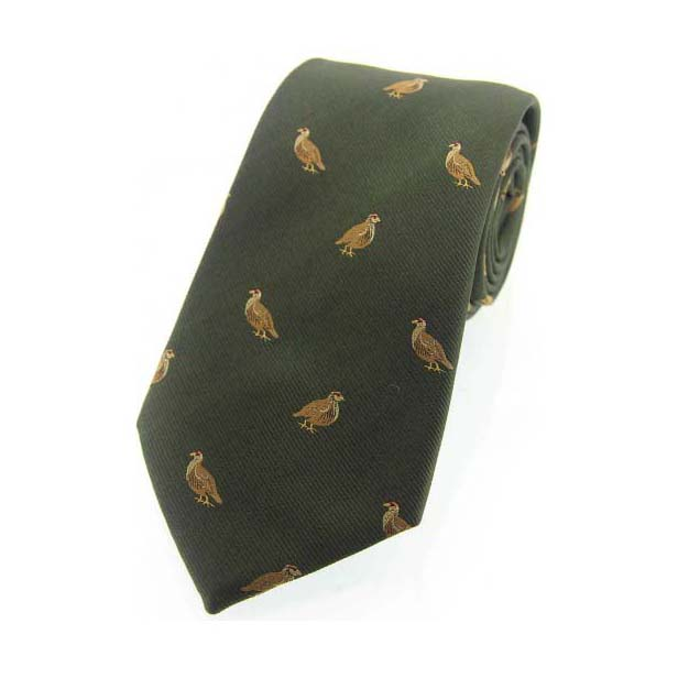 Grouse on Green Country Silk Tie