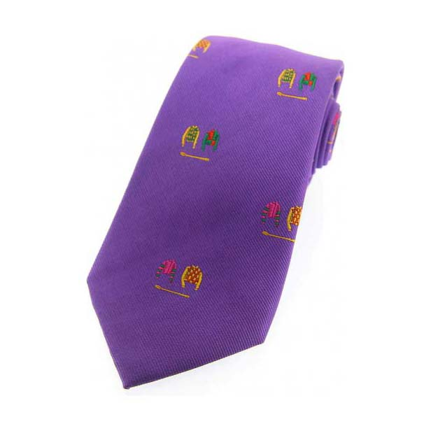 Jockey Colours on Lilac Country Silk Tie