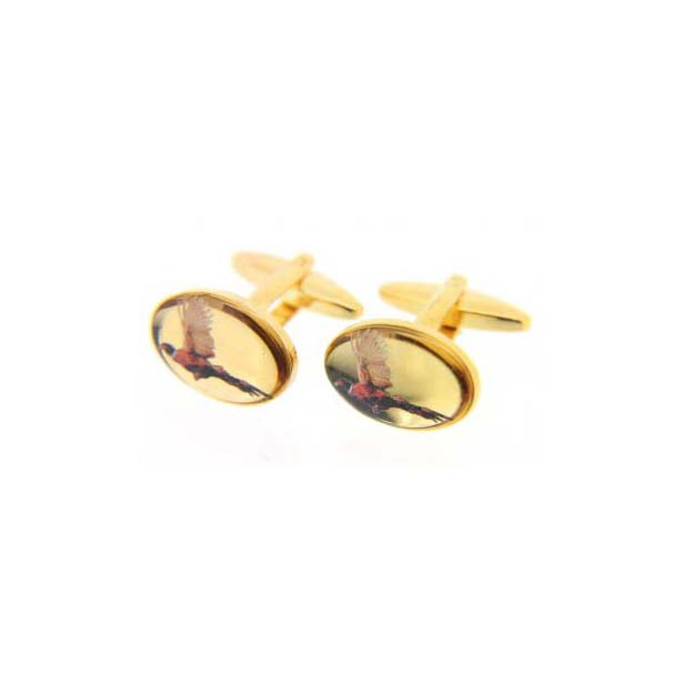 Flying Pheasant Country Cufflinks