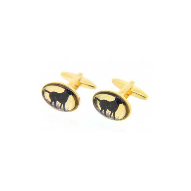 Black Labrador Country Cufflinks