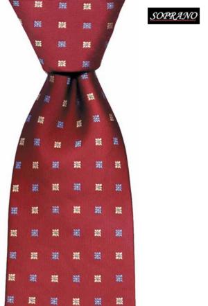 Woven Silk Wine Flowers Tie