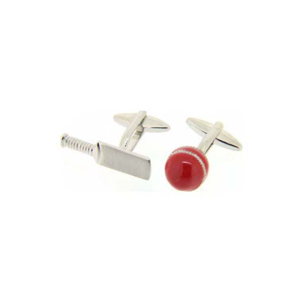 Cricket Bat and Ball Symbol Cufflinks