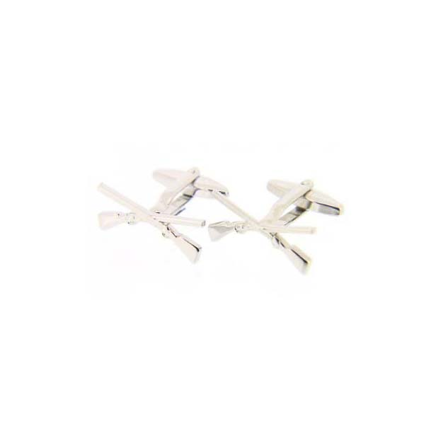 Solid Crossed Shotgun Country Cufflinks