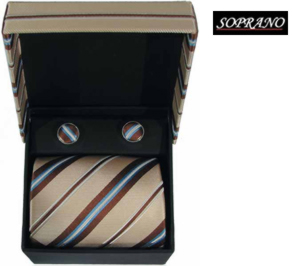 Cream Brown Stripes Box Set