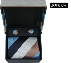 Cream Navy Sky Stripes Box Set