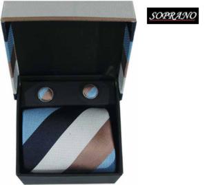 Cream Navy Sky Stripes Box Set