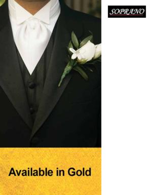 Gold Self Tie Wedding Cravat