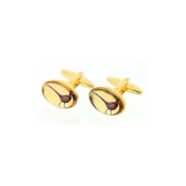 Standing Pheasants Symbol Country Cufflinks