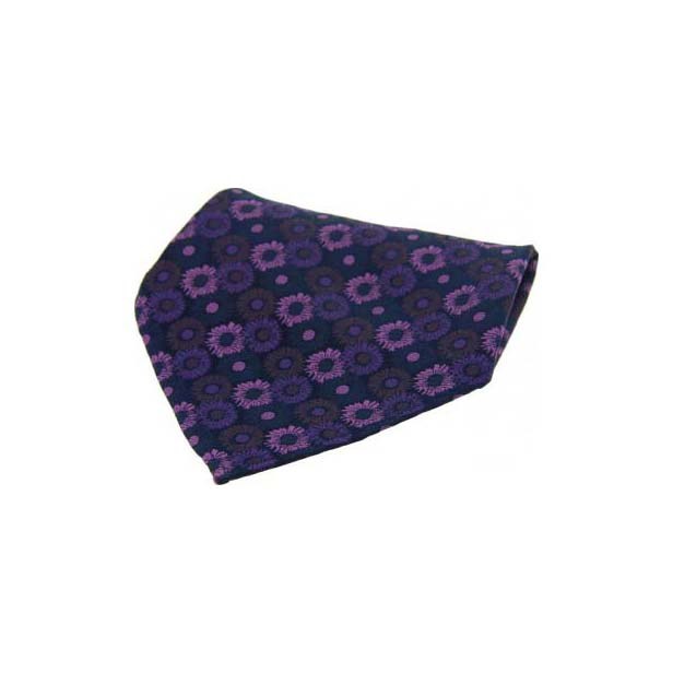 Purple & Pink Flowers Silk Pocket Square