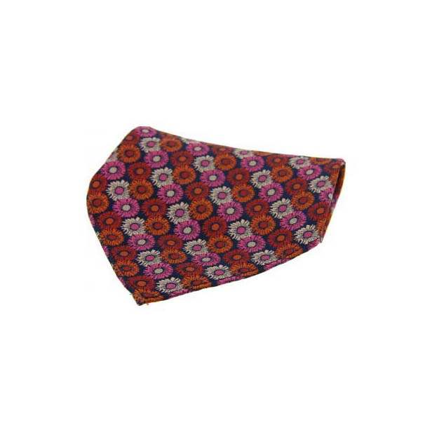 Multi Coloured Floral Silk Pocket Square