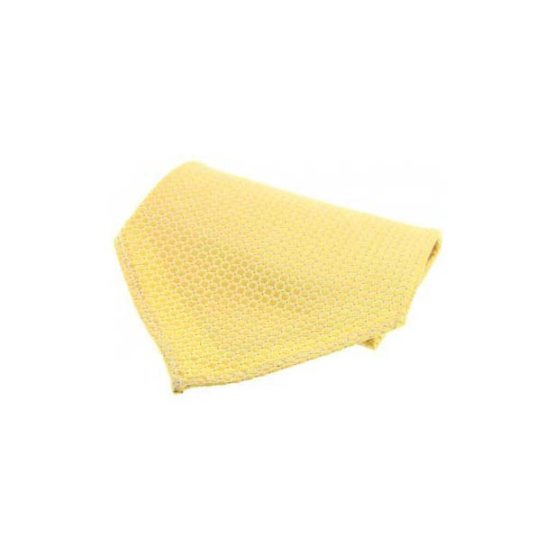 Yellow Box Weave Silk Pocket Square