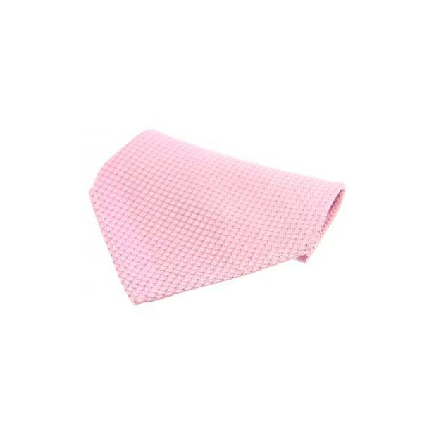 Pink Box Weave Silk Pocket Square