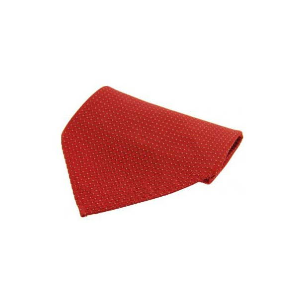 Red Box Weave Silk Pocket Square
