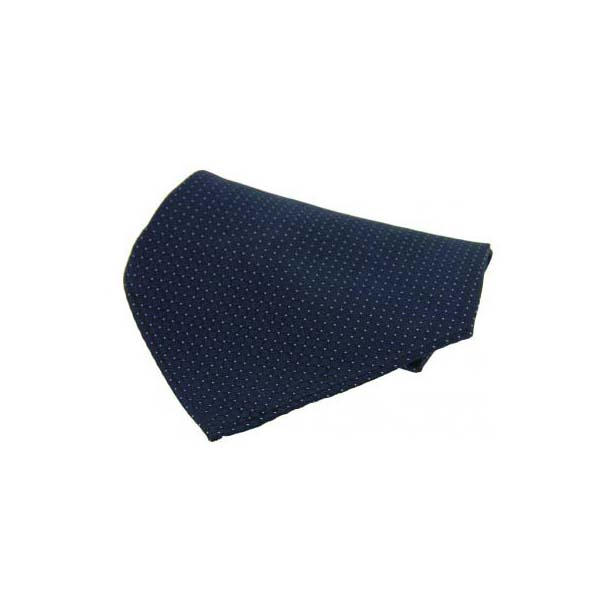 Blue Box Weave Silk Pocket Square