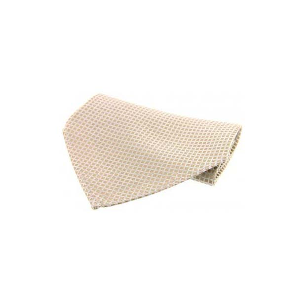 Cream Box Weave Silk Pocket Square
