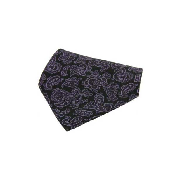 Purple with Medium Paisley Pattern Silk Pocket Square