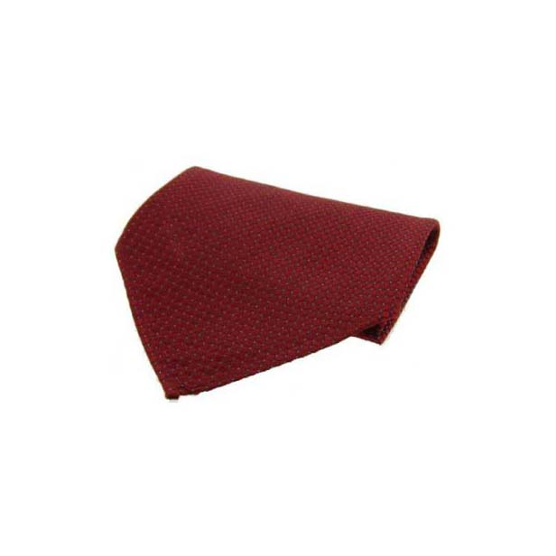 Wine Box Weave with Pin Dots Silk Pocket Square