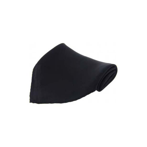 Plain Black Diagonal Twill Silk Pocket Square