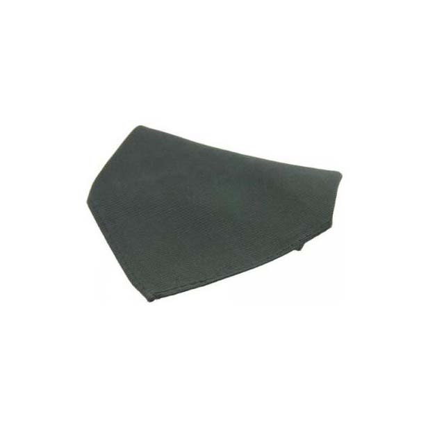 Plain Charcoal Diagonal Twill Silk Pocket Square