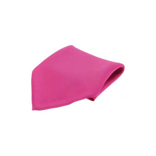 Fuchsia Diagonal Twill Silk Pocket Square