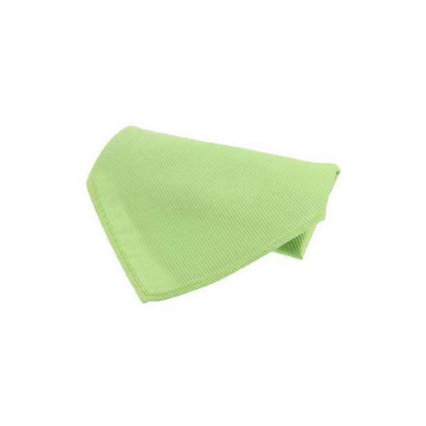 Plain Lime Green Diagonal Twill Silk Pocket Square