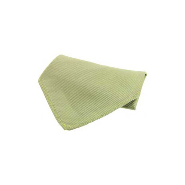 Plain Moss Green Diagonal Twill Silk Pocket Square
