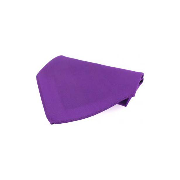 Plain Purple Diagonal Twill Silk Pocket Square