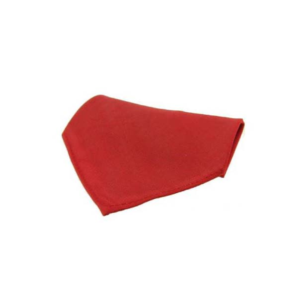 Plain Red Diagonal Twill Silk Pocket Square