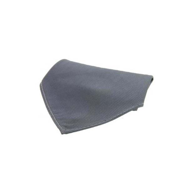 Plain Slate Grey Diagonal Twill Silk Pocket Square