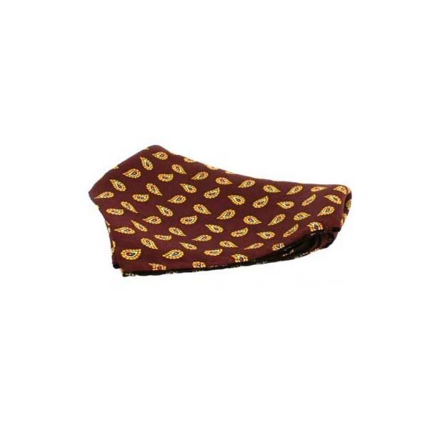 Small Wine Tear Drop Paisley Silk Pocket Square