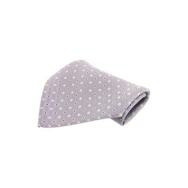 Small Grey Box Weave Silk Pocket Square