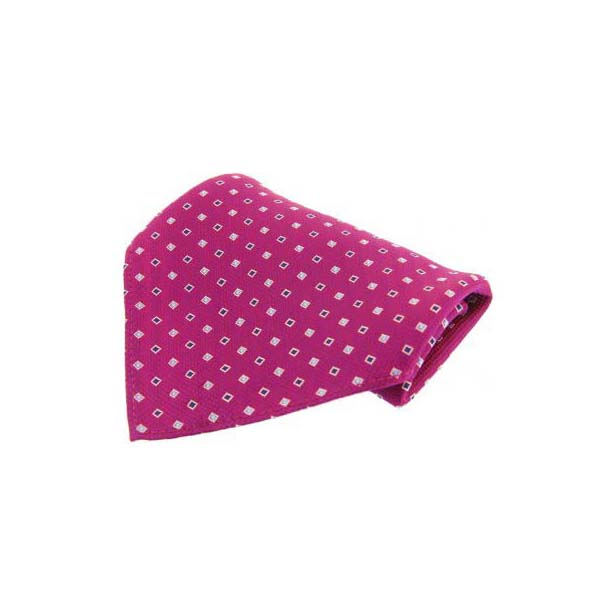 Plumb with Small Square Pattern Silk Pocket Square