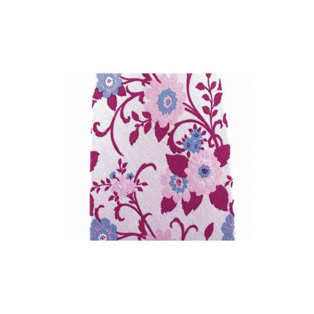Pink Flower Patterned Silk Pocket Square