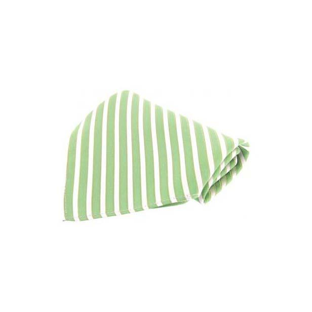 Mint Striped Silk Pocket Square