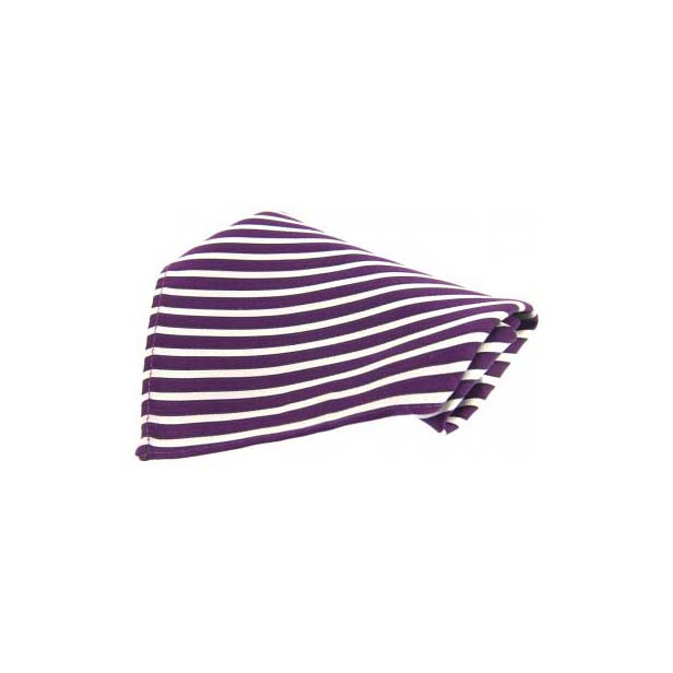 Wine Striped Silk Pocket Square