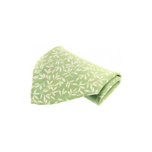 Mint Leaf Patterned Silk Pocket Square