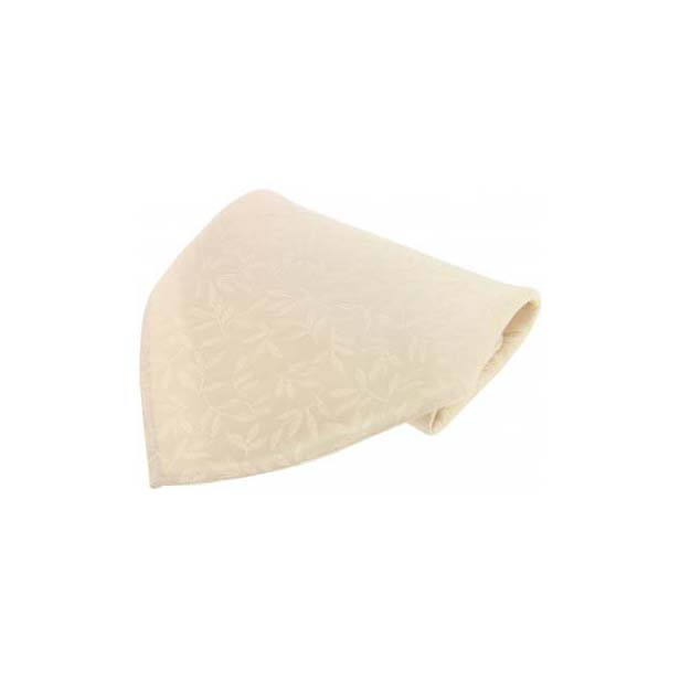 Ivory Leaf patterned Silk Pocket Square