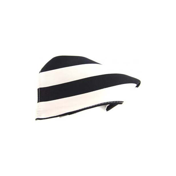 Black and White Stripes Silk Pocket Square
