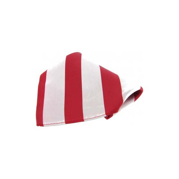 Red and White Stripes Silk Pocket Square