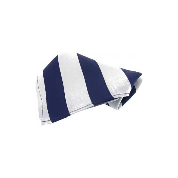 Blue and White Stripes Silk Pocket Square