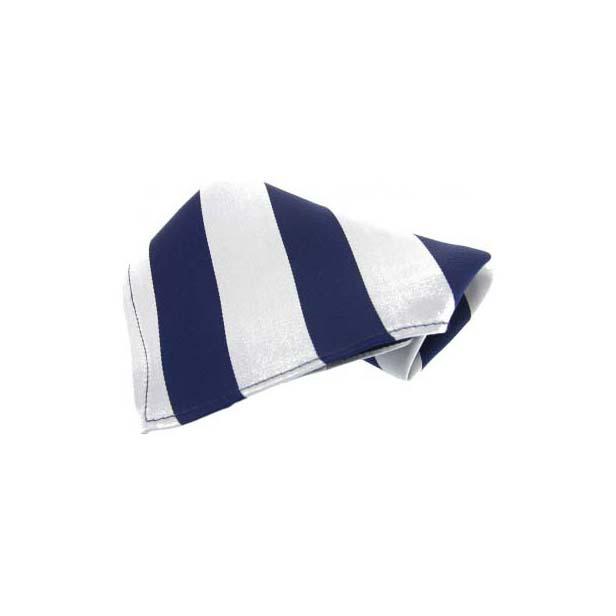 Blue and White Stripes Silk Pocket Square